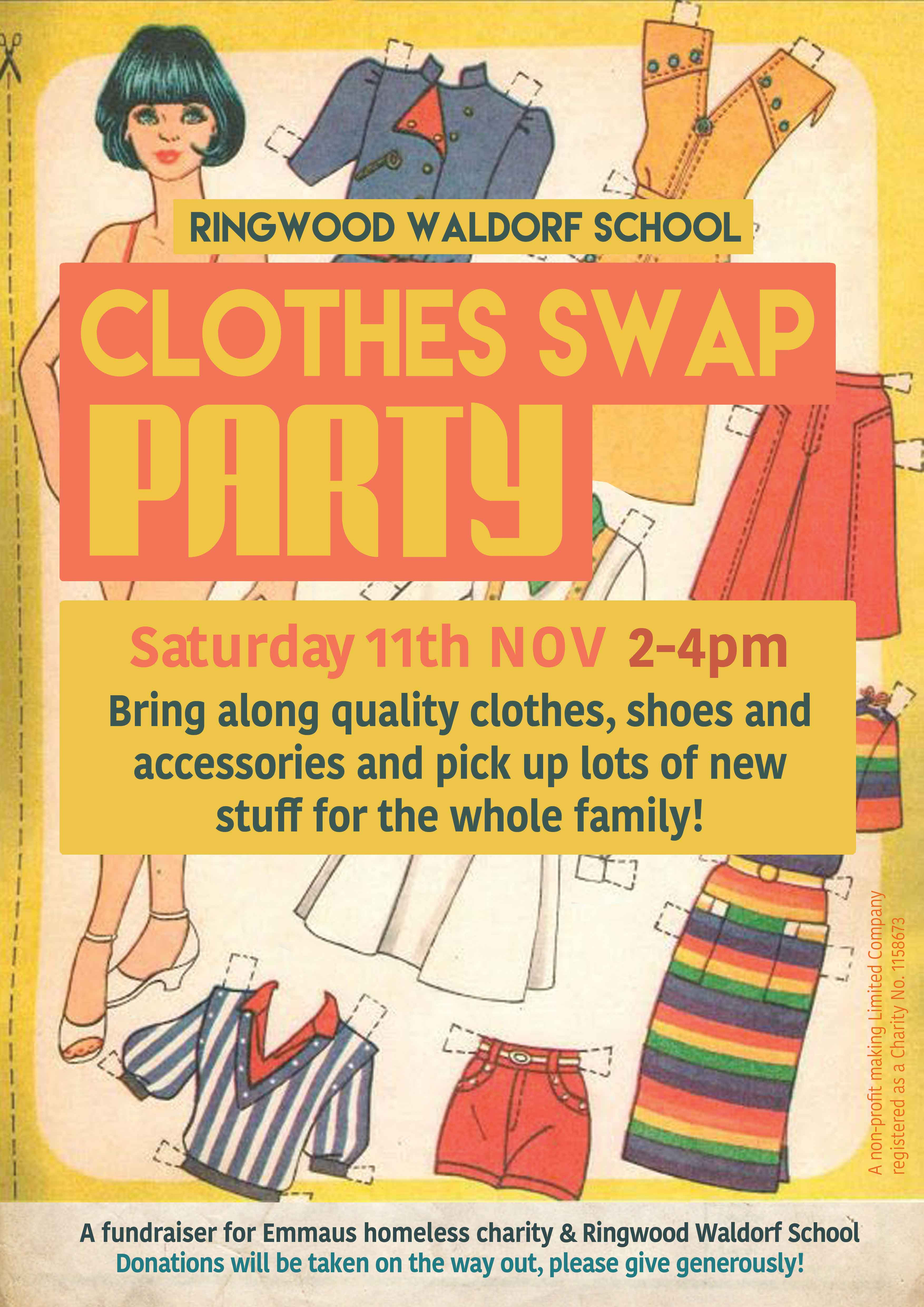 Clothes Swap Party at Ringwood Waldorf School fundraiser 11 November 2017