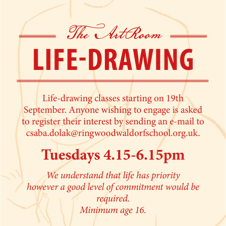 Life Drawing classes with Csaba Dolak at Ringwood Waldorf School