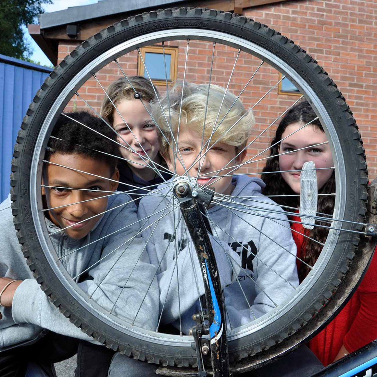 Me to We sponsored bike ride by pupils of Ringwood Waldorf School in aid of Emmaus charity