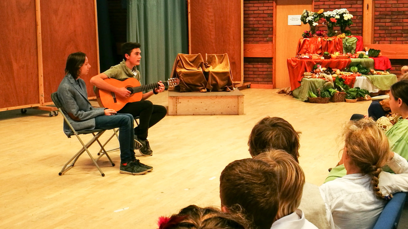 Visiting students perform at the Michaelmas Festival at the Upper School - Class 11 at Ringwood Waldorf School
