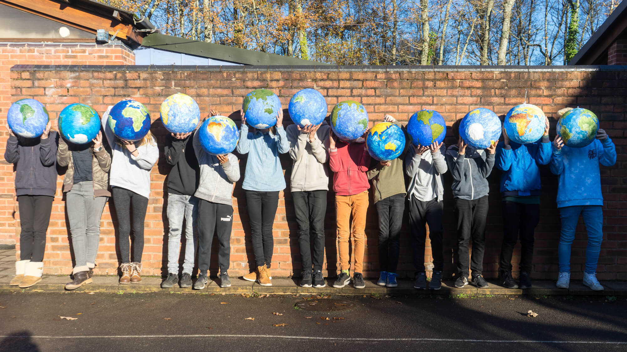 Making Globes in Geography in Class 7 at Ringwood Waldorf School