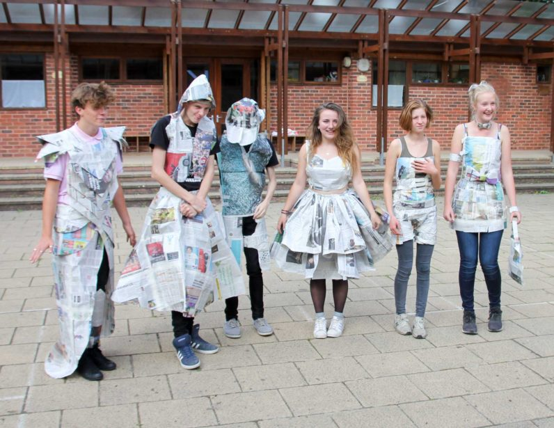 Upper School Craft Block Newspaper Catwalk Tailoring Recycling