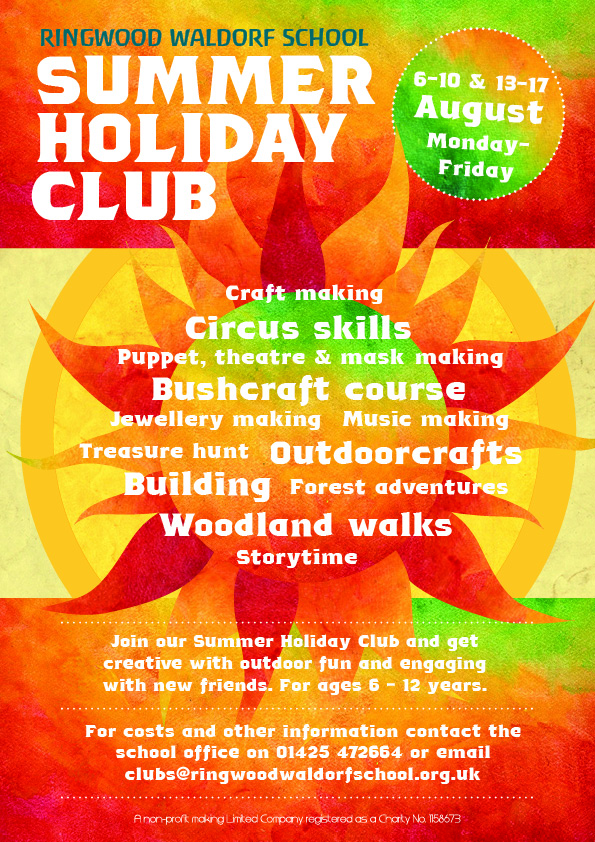 2018 Summer Holiday Club at Ringwood Waldorf School