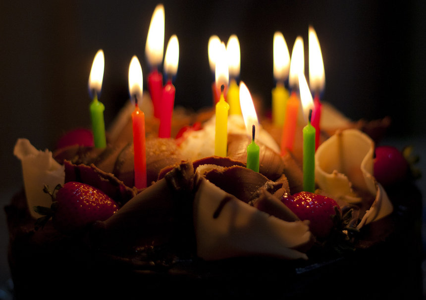image of birthday cake and candles