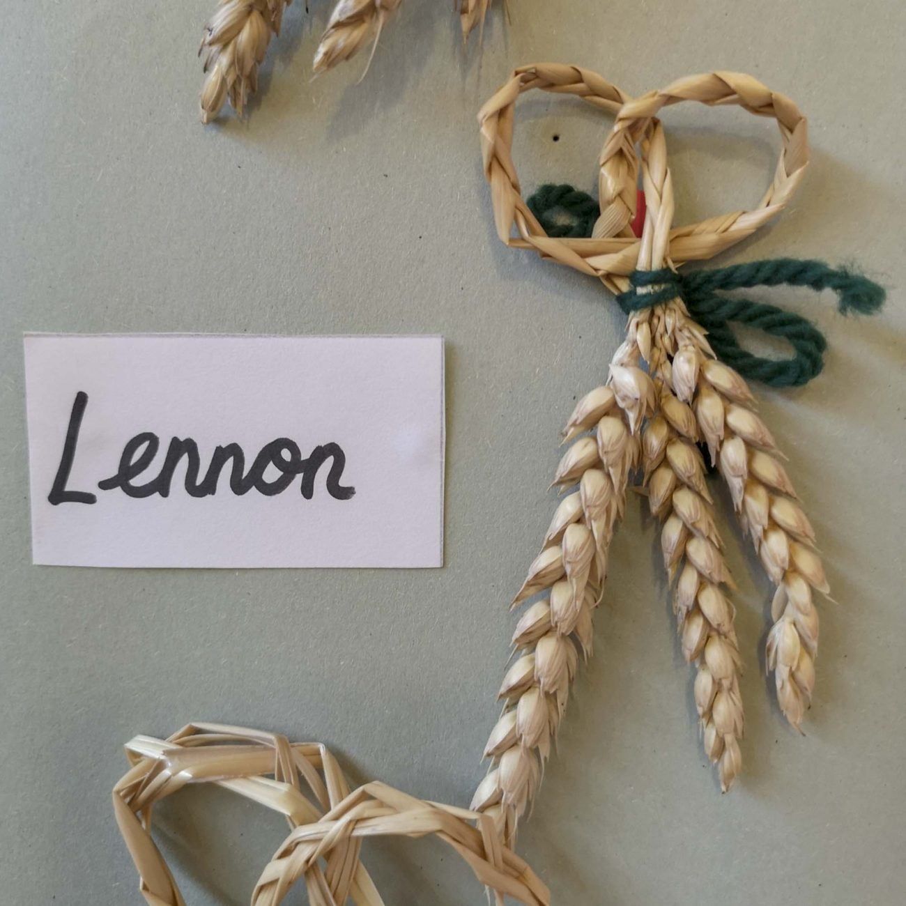 Traditional Harvest Festival Michaelmas plaits of corn - crafts in Class 3 at Ringwood Waldorf School