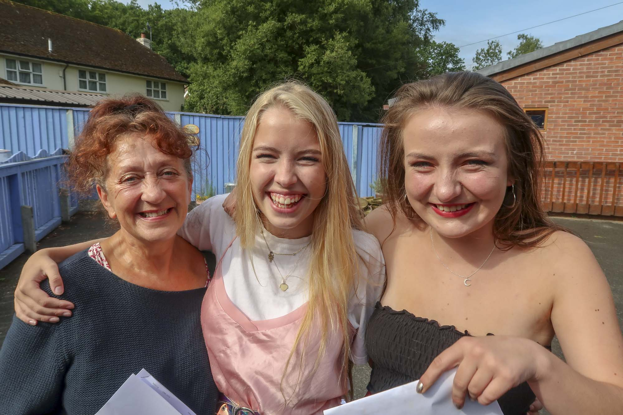students receiving their exam results at ringwood waldorf school