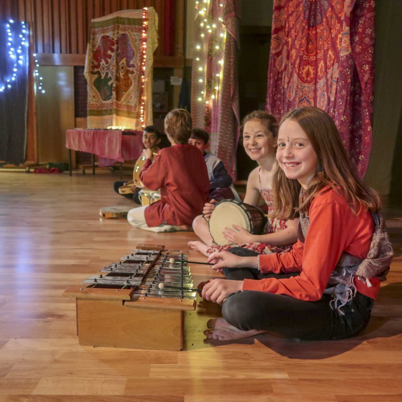 Children and parents celebrating Diwali - Indian Festival of Light with Class 5 at Ringwood Waldorf School