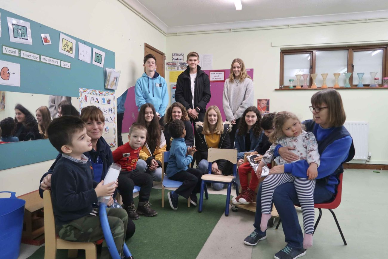 Me to We Group from Ringwood Waldorf school visiting the John Mc Neil Opportunity Centre in Salisbury to donate fundraising money