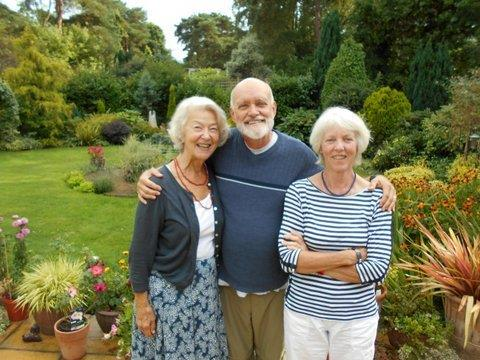 photo of Christine Polyblank, Dennis and Greta Weekes (Crum) at a reunion Ringwood Waldorf School 2014