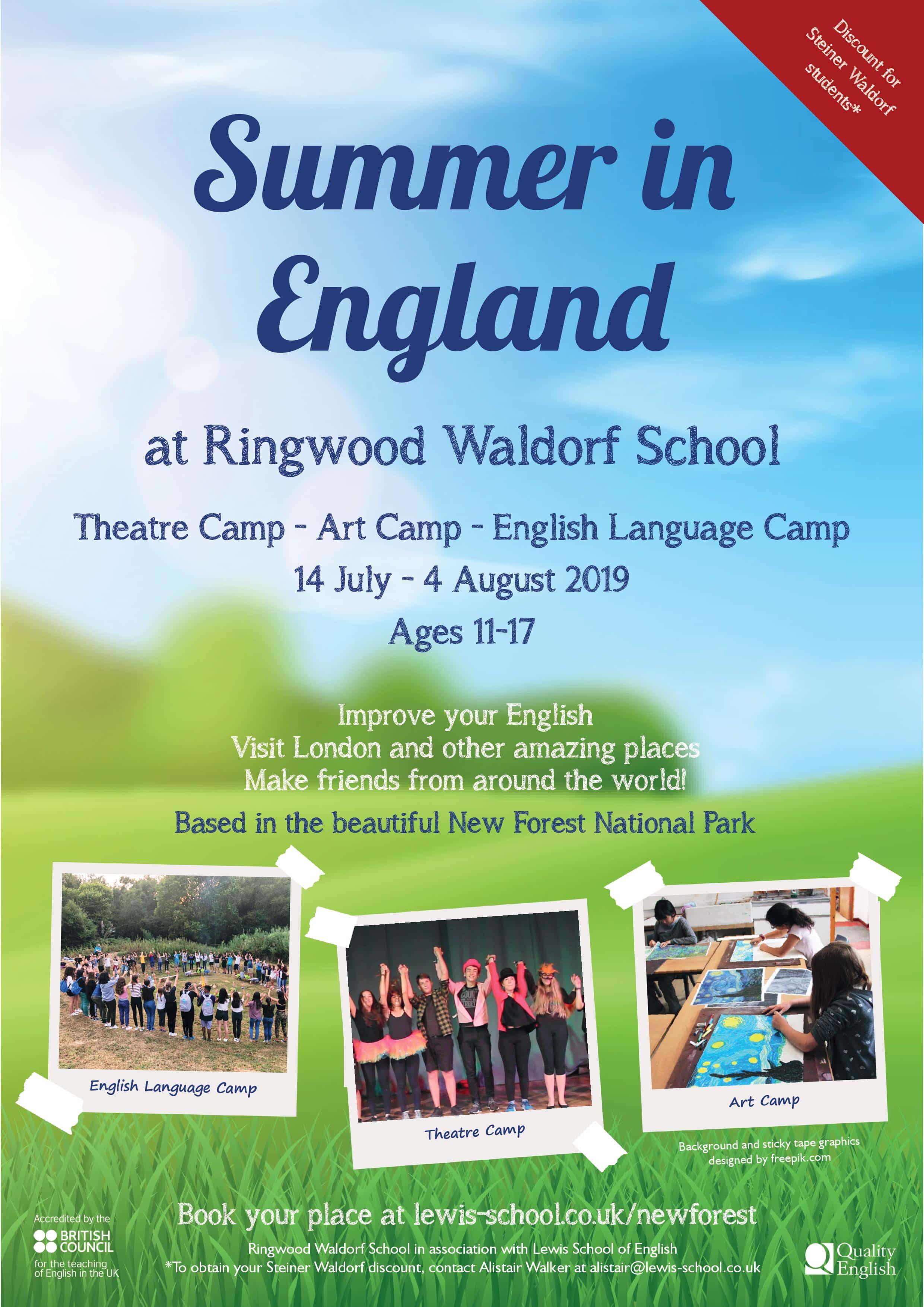 Summer school Theatre Art & English at Ringwood Waldorf School